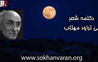 دکلمه شعر می ترود مهتاب نیما یوشیج