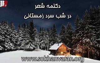 دکلمه شعر در شب سرد زمستانی